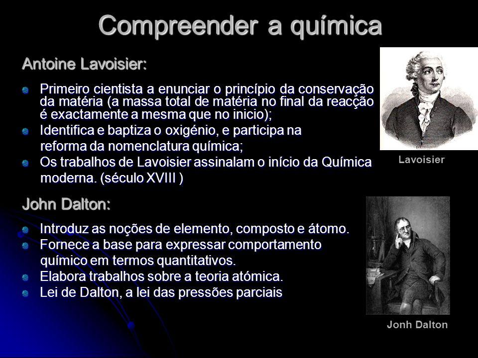 Compreender a química Antoine Lavoisier: John Dalton: