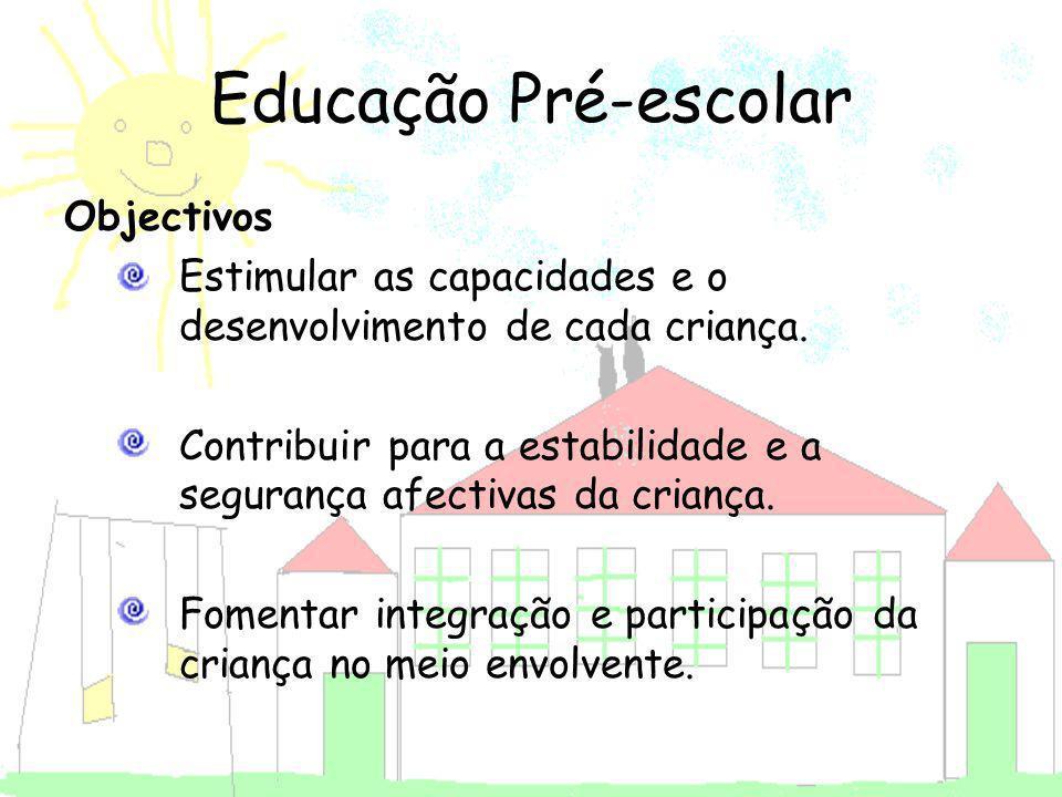 Educação Pré-escolar Objectivos