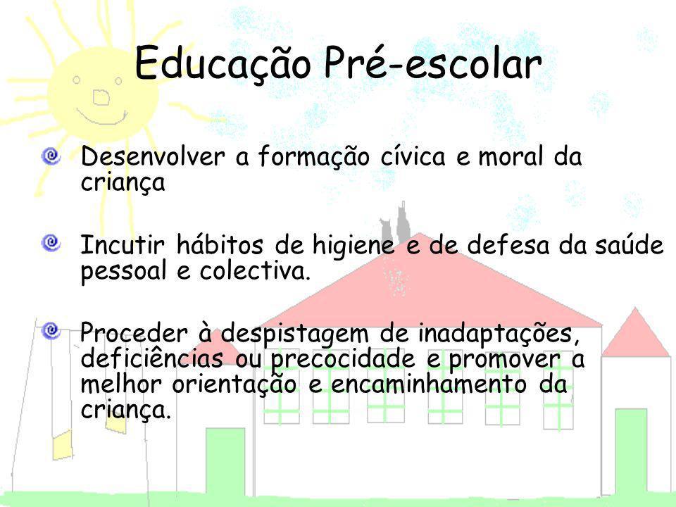 Educação Pré-escolar Desenvolver a formação cívica e moral da criança