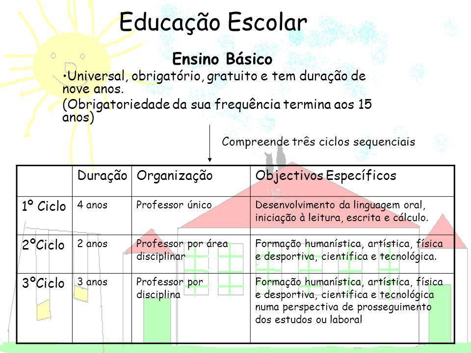 Educação Escolar Ensino Básico