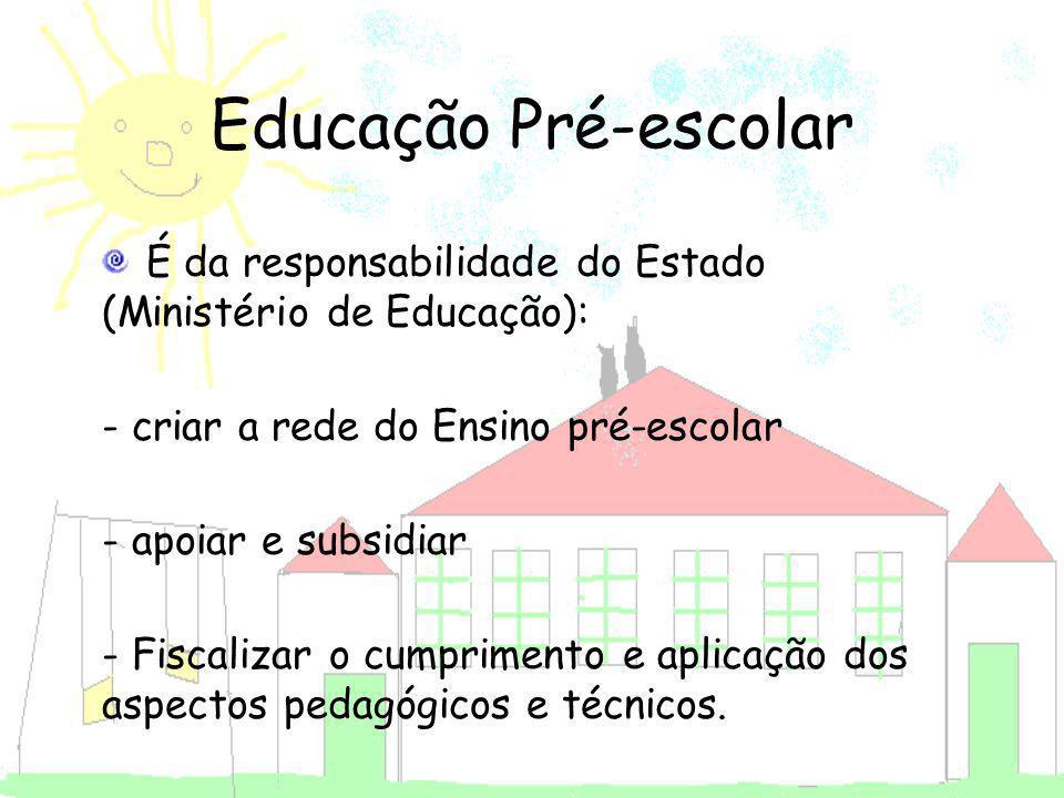 Educação Pré-escolar - criar a rede do Ensino pré-escolar
