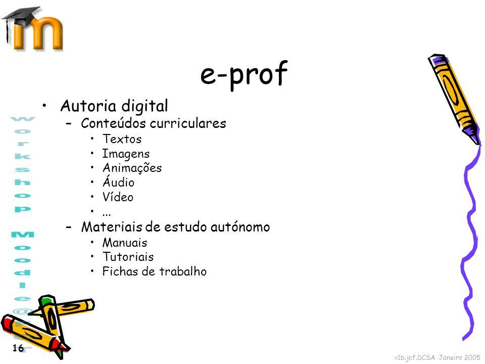 e-prof Autoria digital Conteúdos curriculares