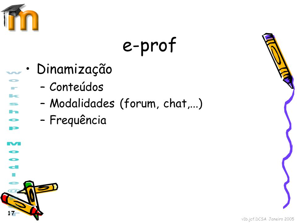 e-prof Dinamização Conteúdos Modalidades (forum, chat,...) Frequência
