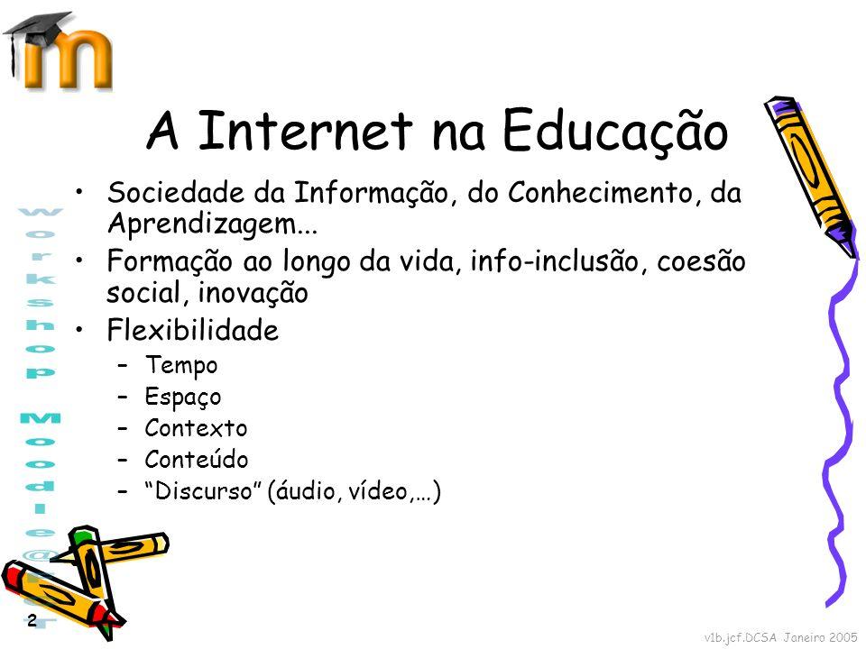 A Internet na Educação Sociedade da Informação, do Conhecimento, da Aprendizagem...