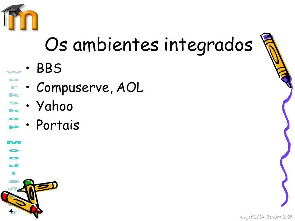 Os ambientes integrados