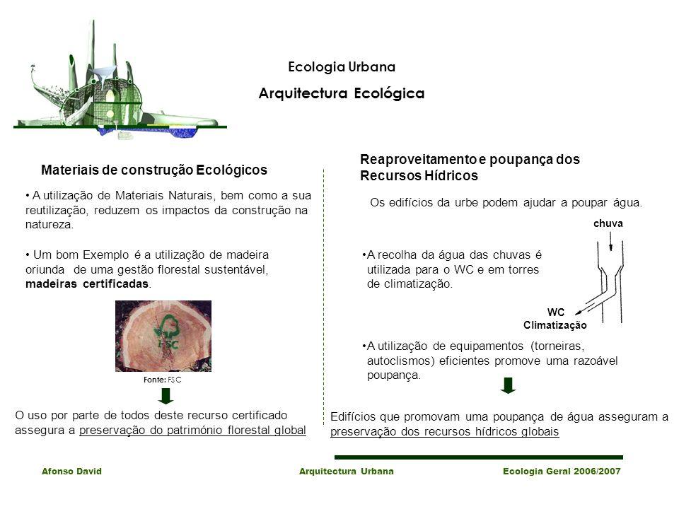 Arquitectura Ecológica Materiais de construção Ecológicos