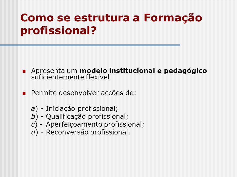 Como se estrutura a Formação profissional