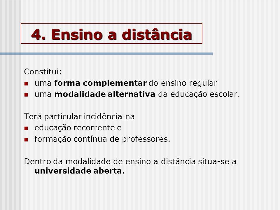 4. Ensino a distância Constitui: