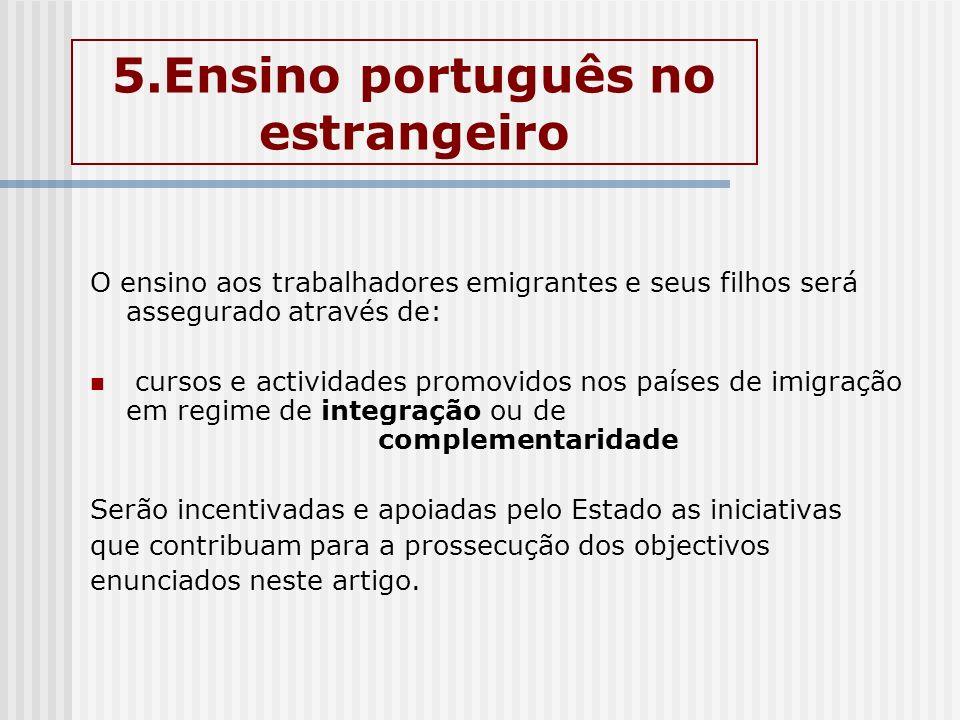 5.Ensino português no estrangeiro