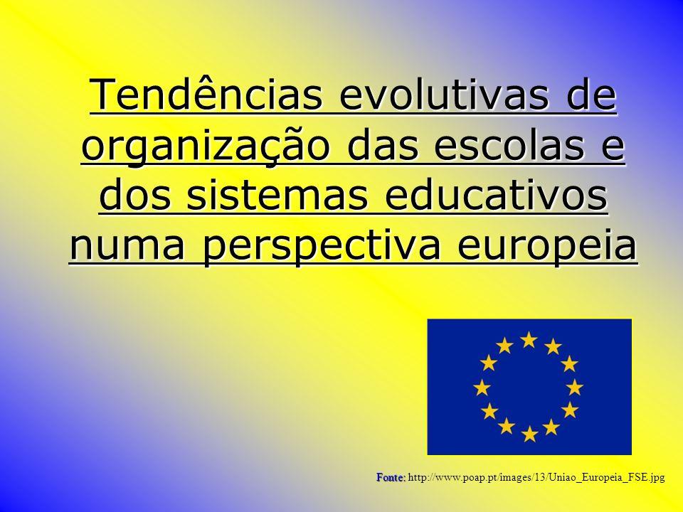 Tendências evolutivas de organização das escolas e dos sistemas educativos numa perspectiva europeia