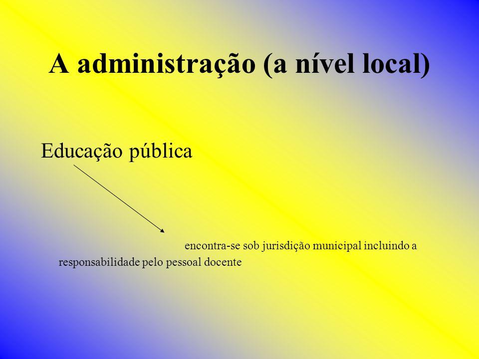 A administração (a nível local)