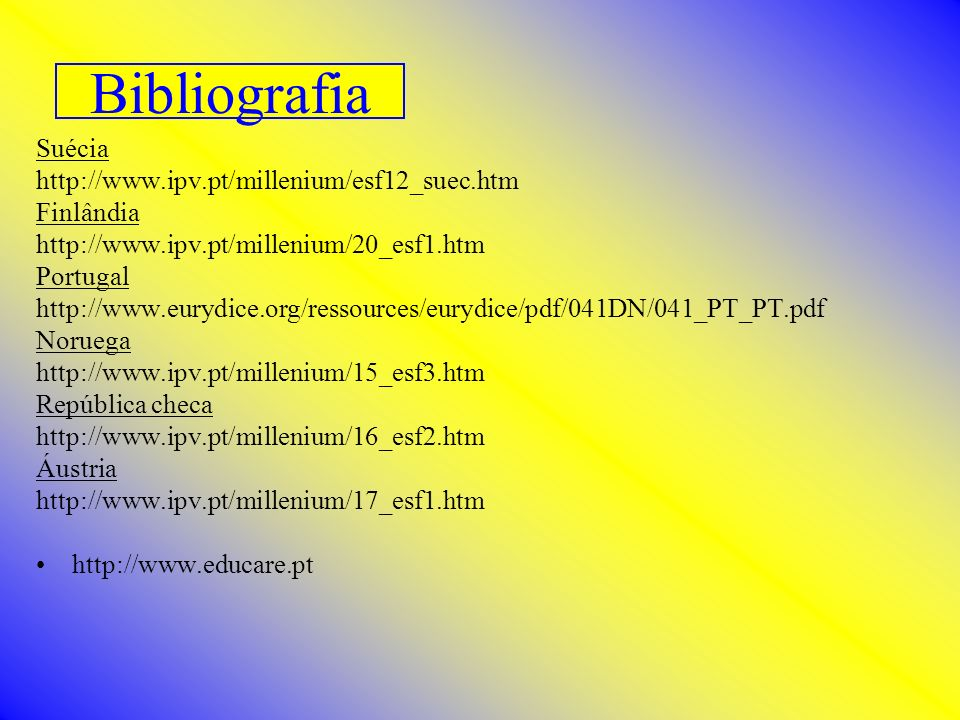 Bibliografia Suécia http://www.ipv.pt/millenium/esf12_suec.htm