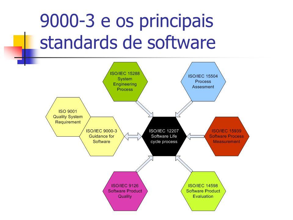 9000-3 e os principais standards de software