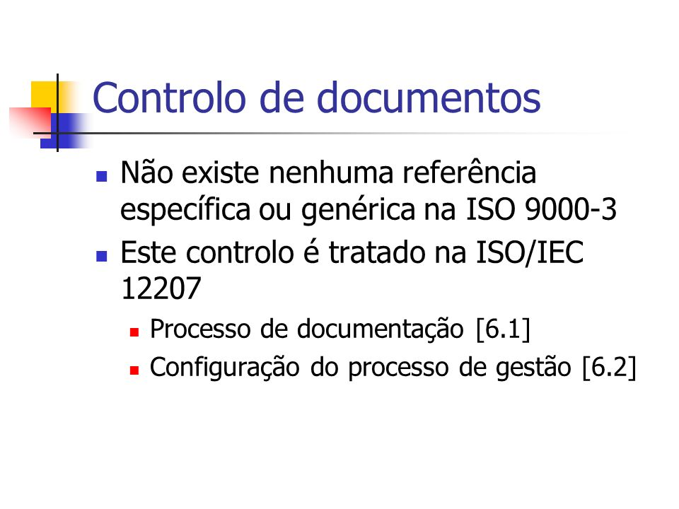 Controlo de documentos