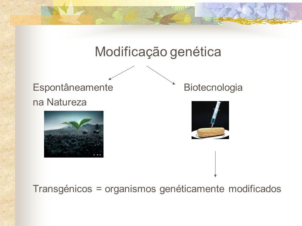 Modificação genética Espontâneamente Biotecnologia na Natureza