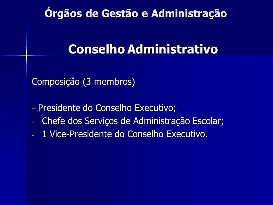 Órgãos de Gestão e Administração