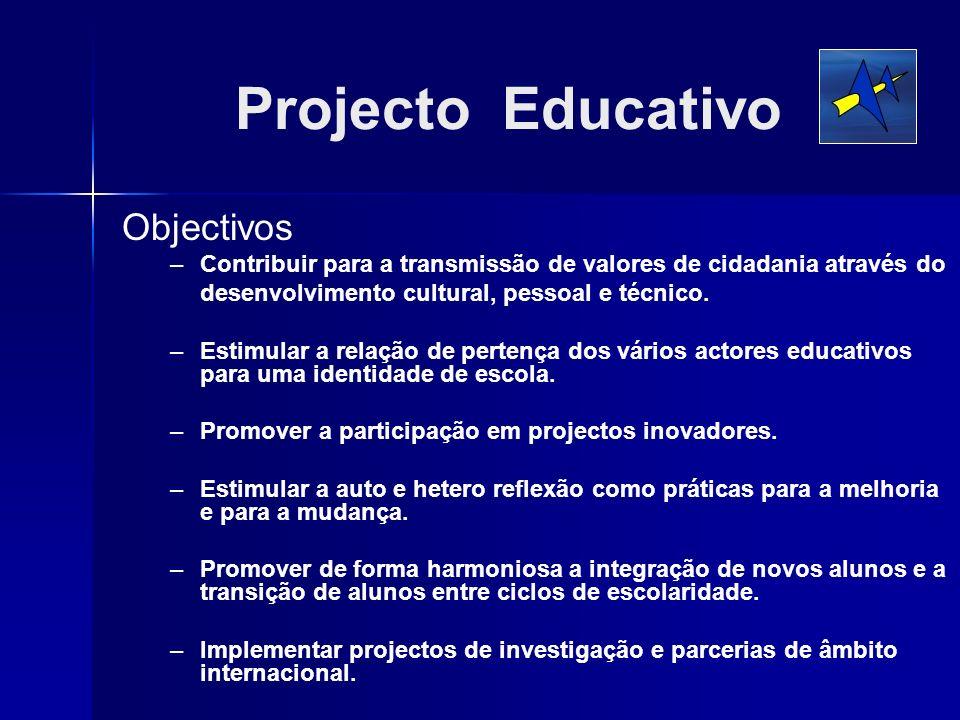 Projecto Educativo Objectivos