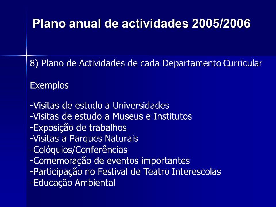 Plano anual de actividades 2005/2006