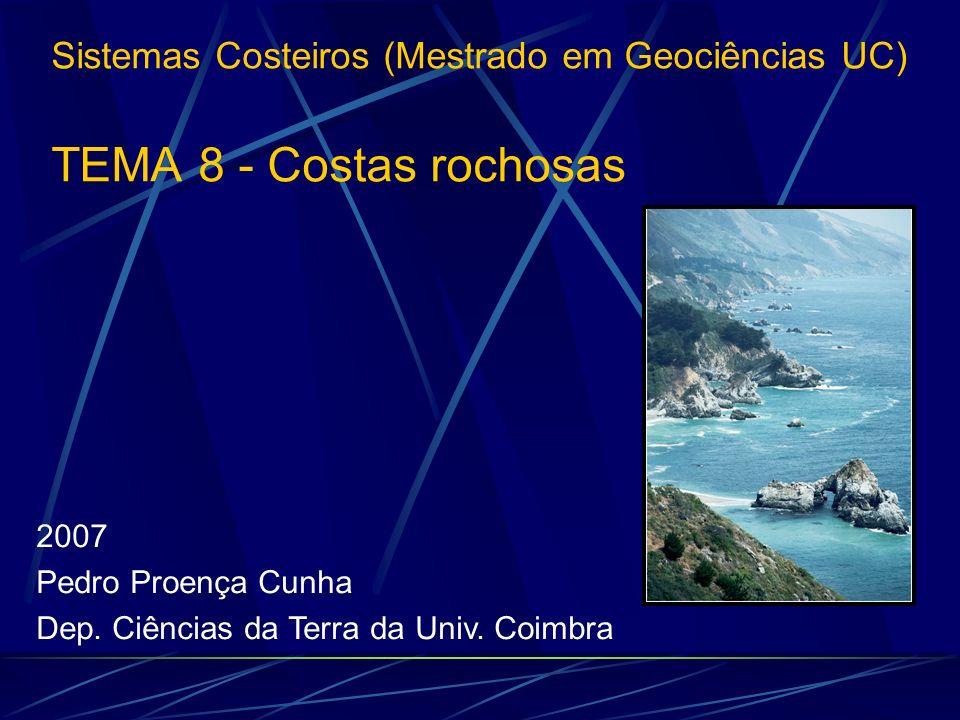 Sistemas Costeiros (Mestrado em Geociências UC) TEMA 8 - Costas rochosas