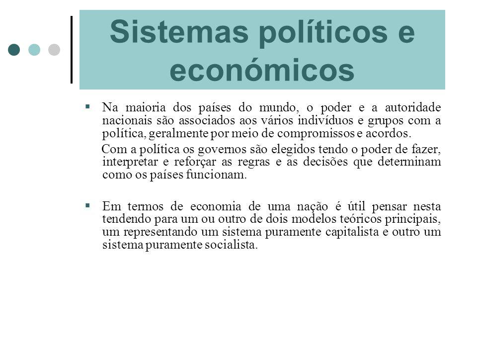Sistemas políticos e económicos