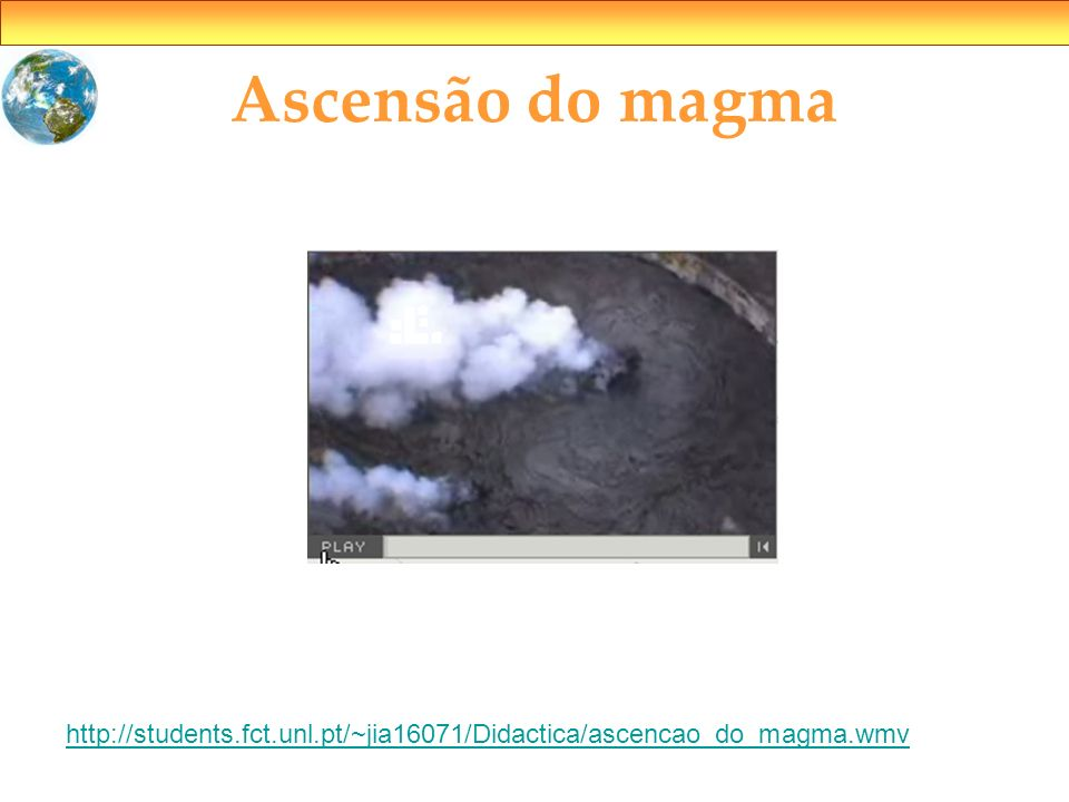 Ascensão do magma http://students.fct.unl.pt/~jia16071/Didactica/ascencao_do_magma.wmv