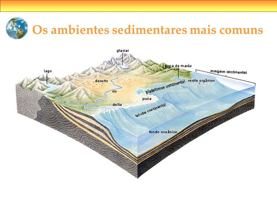 Os ambientes sedimentares mais comuns