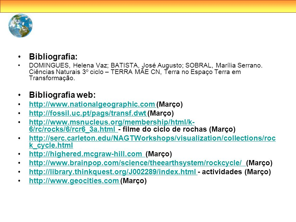 Bibliografia: Bibliografia web:
