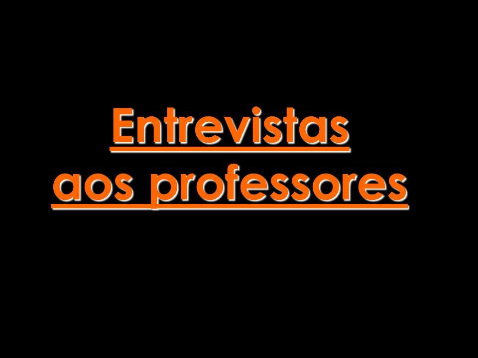 Entrevistas aos professores