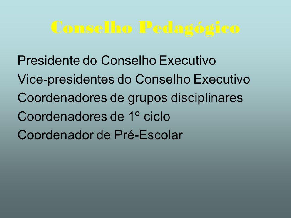 Conselho Pedagógico Presidente do Conselho Executivo