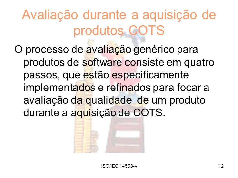 Avaliação durante a aquisição de produtos COTS