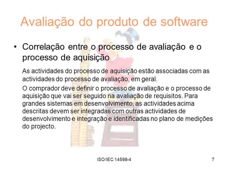 Avaliação do produto de software
