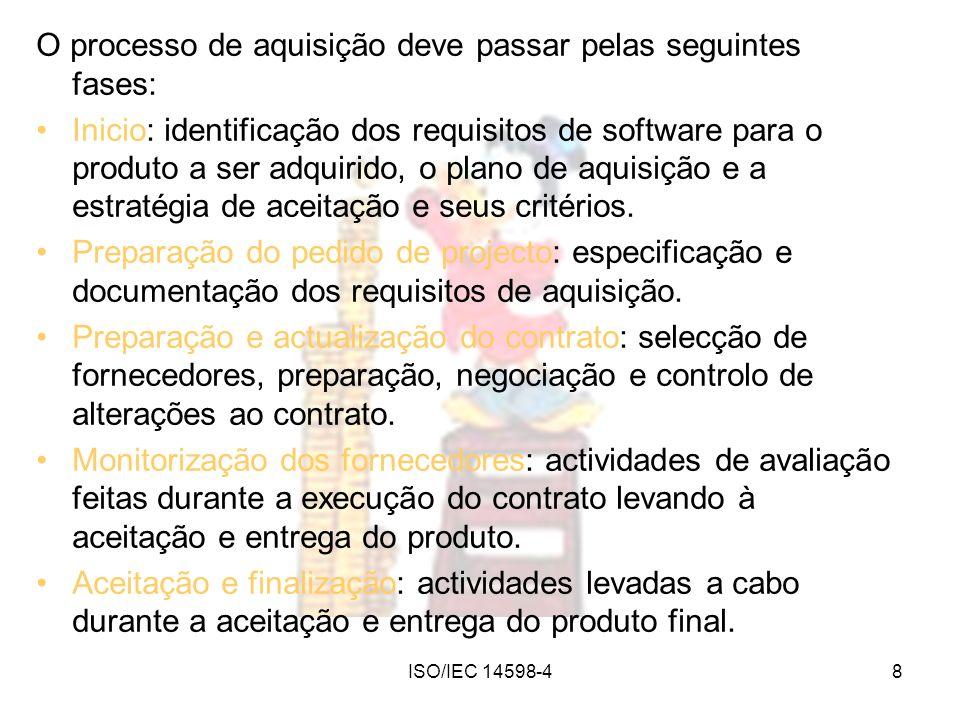 O processo de aquisição deve passar pelas seguintes fases:
