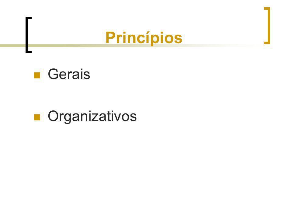 Princípios Gerais Organizativos