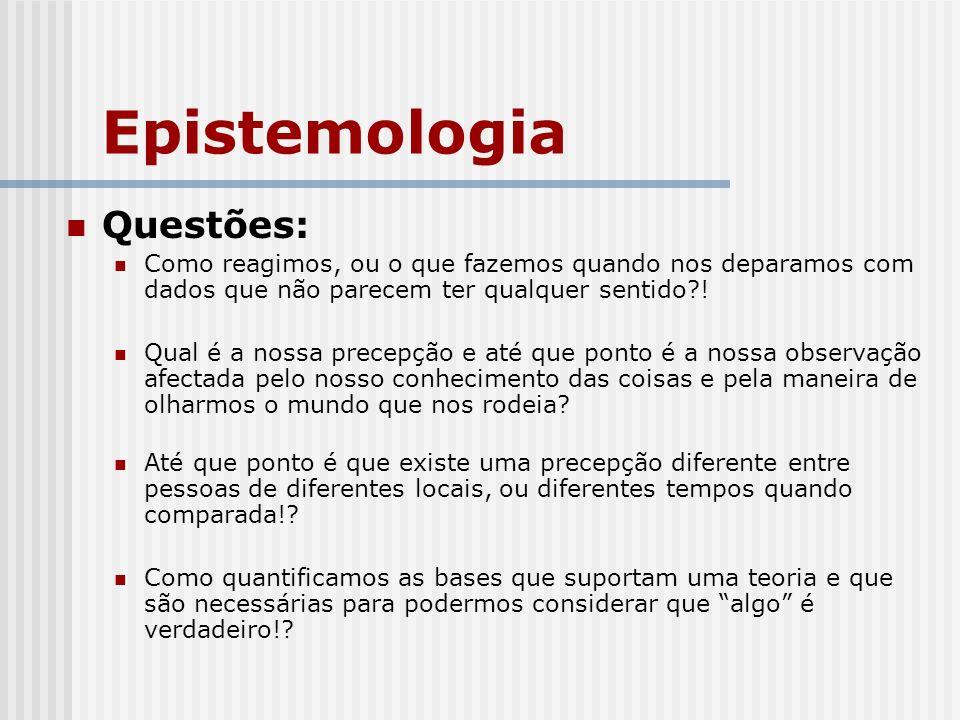 Epistemologia Questões: