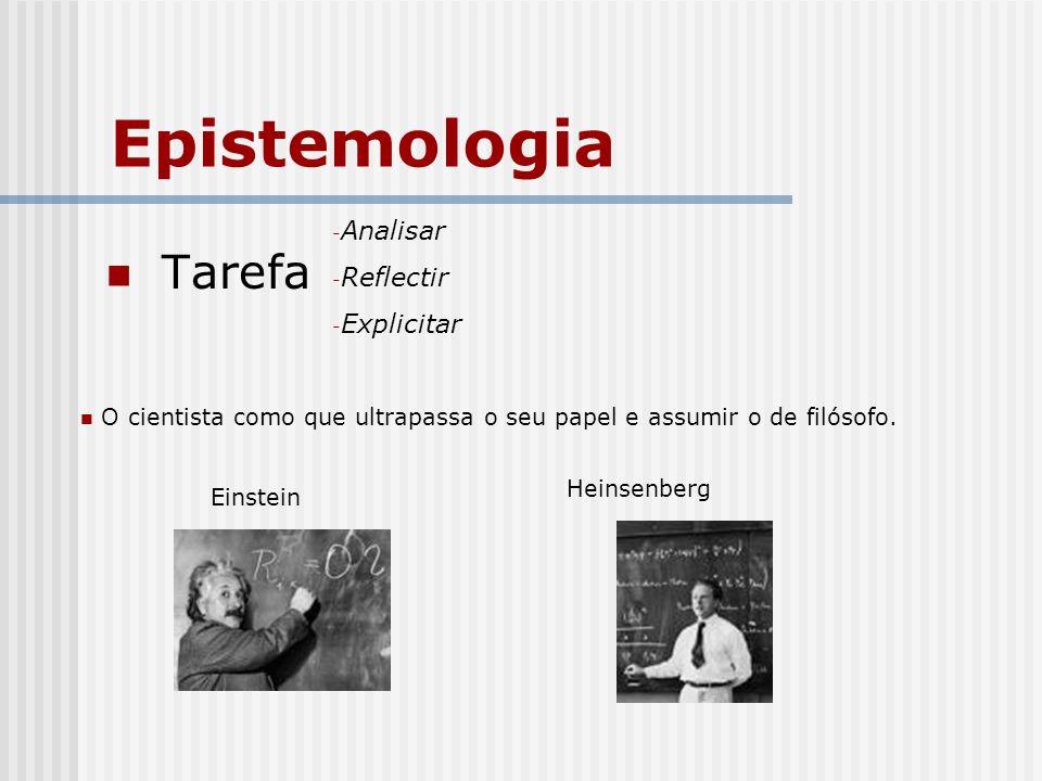 Epistemologia Tarefa Analisar Reflectir Explicitar