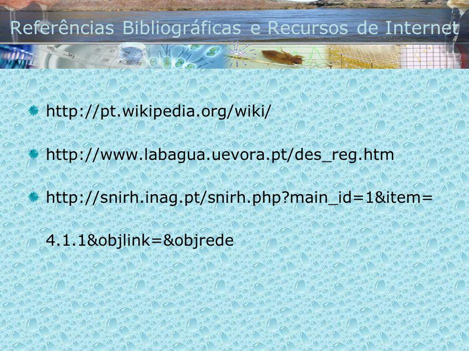 Referências Bibliográficas e Recursos de Internet
