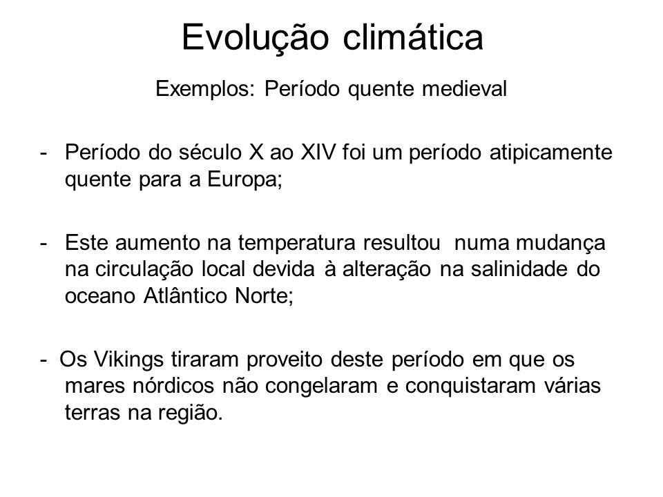 Exemplos: Período quente medieval
