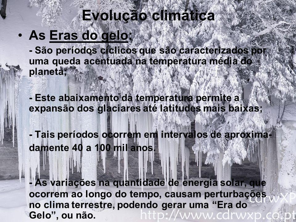 Evolução climática As Eras do gelo: