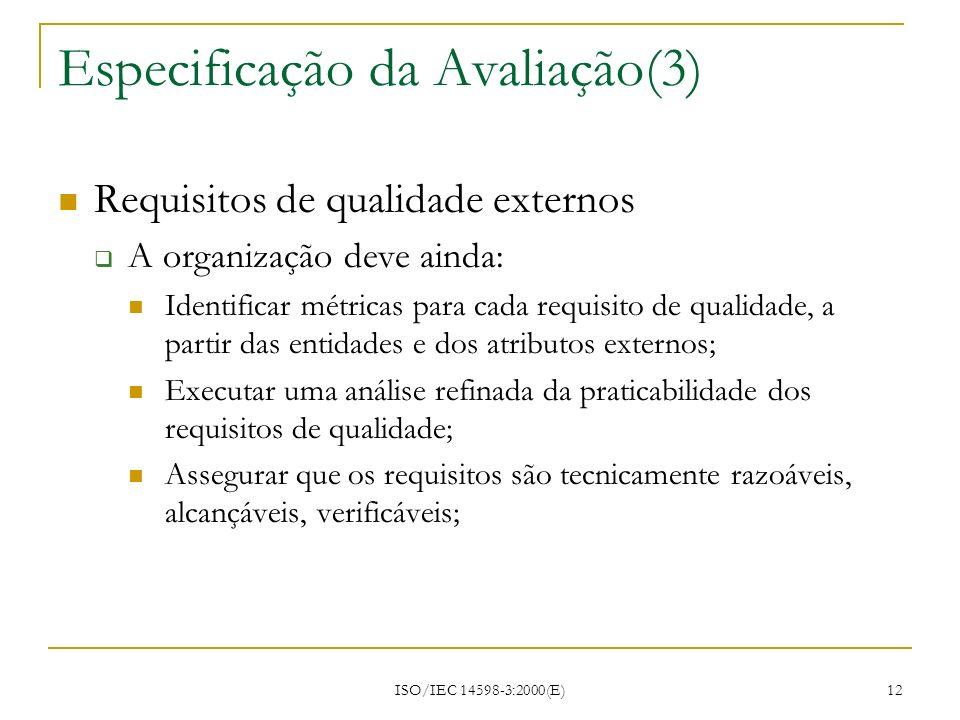 Especificação da Avaliação(3)