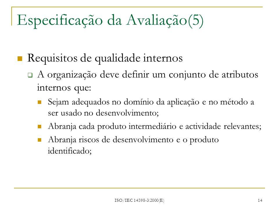 Especificação da Avaliação(5)