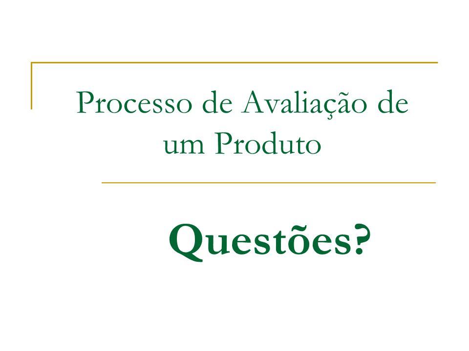 Processo de Avaliação de um Produto