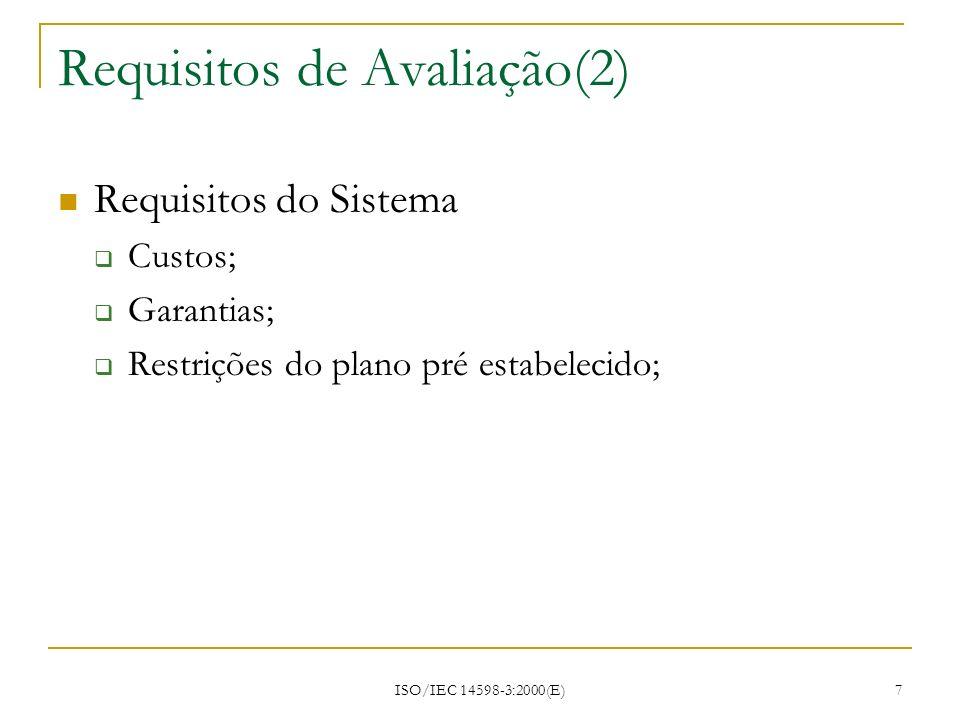 Requisitos de Avaliação(2)