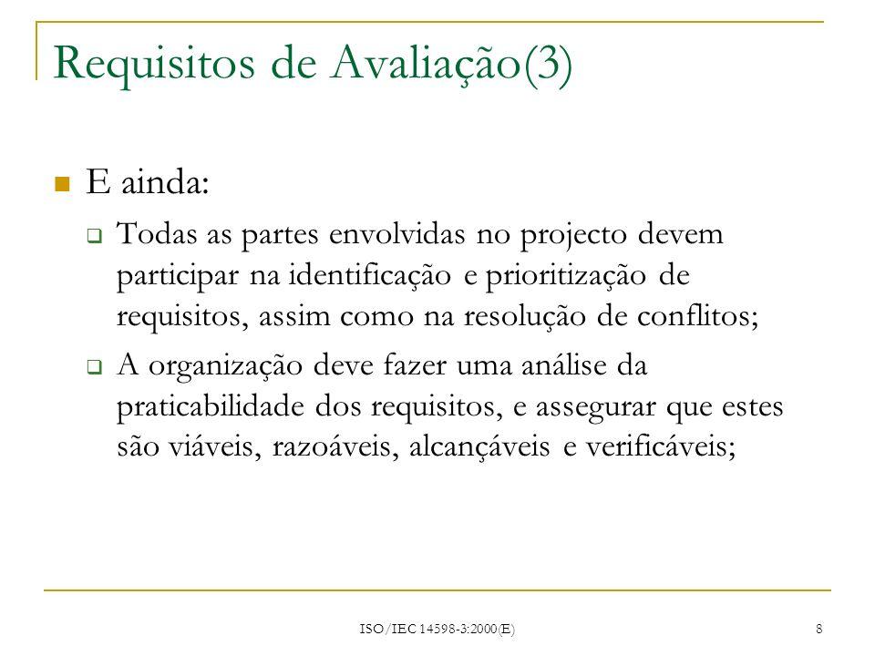 Requisitos de Avaliação(3)
