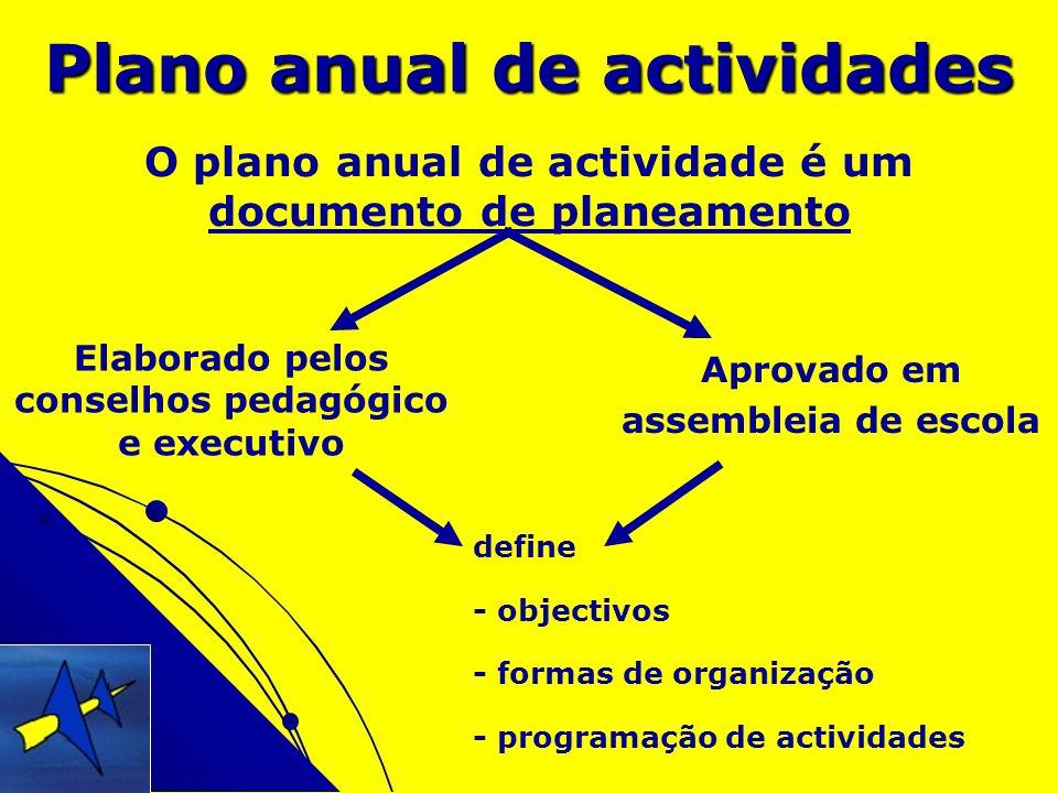 Plano anual de actividades