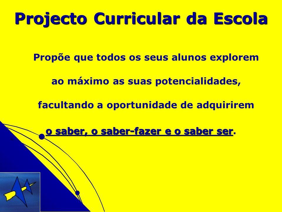 Projecto Curricular da Escola