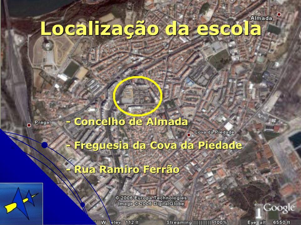 Localização da escola - Concelho de Almada