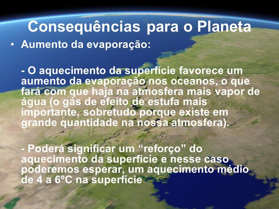 Consequências para o Planeta