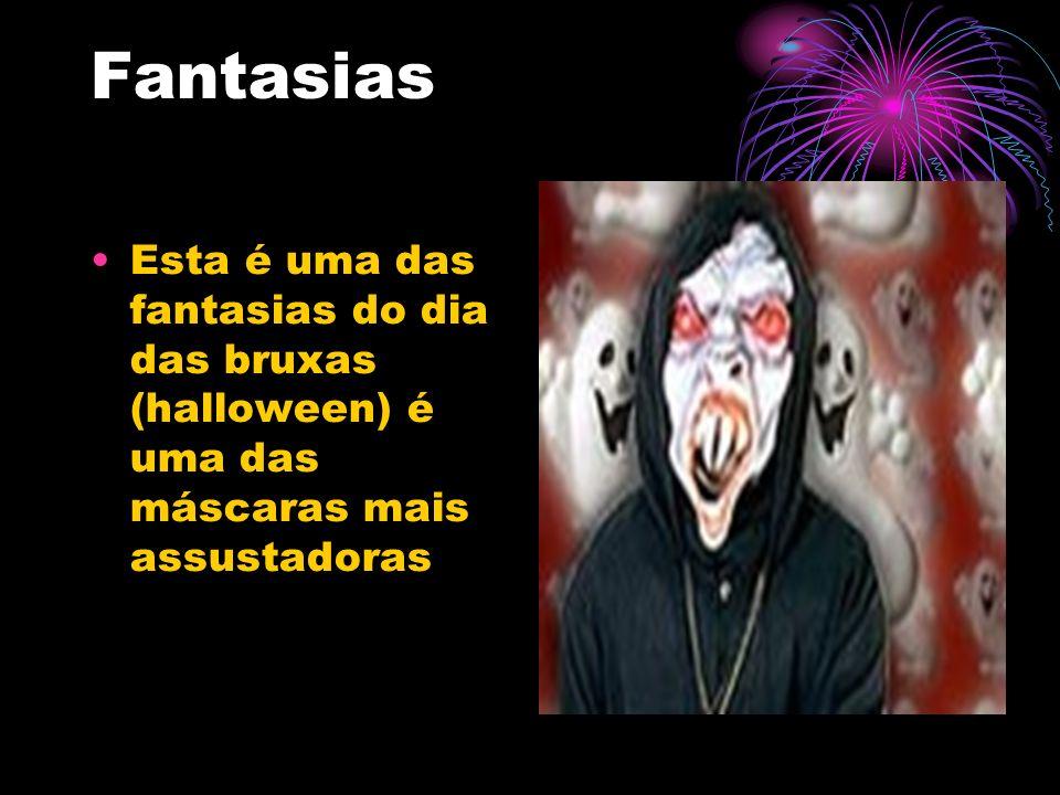 Fantasias Esta é uma das fantasias do dia das bruxas (halloween) é uma das máscaras mais assustadoras.