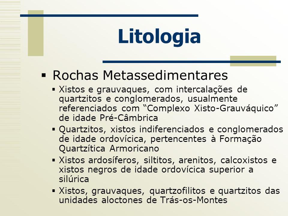 Litologia Rochas Metassedimentares