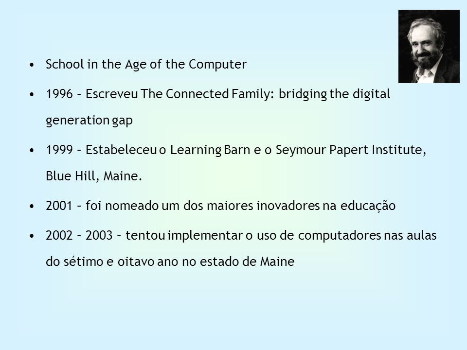 School in the Age of the Computer